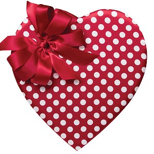 14 Piece Red & White Polka Dot Heart